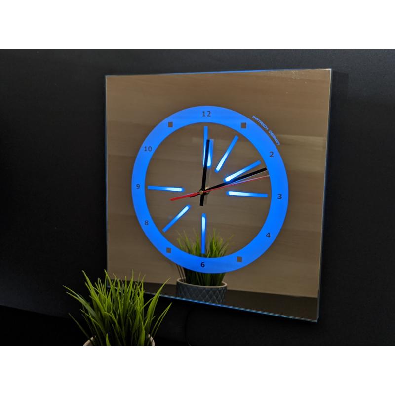 Neon Mirror Clock 5-2020