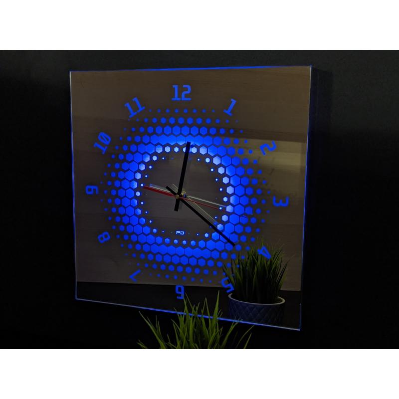 Neon Mirror Clock 9-2020