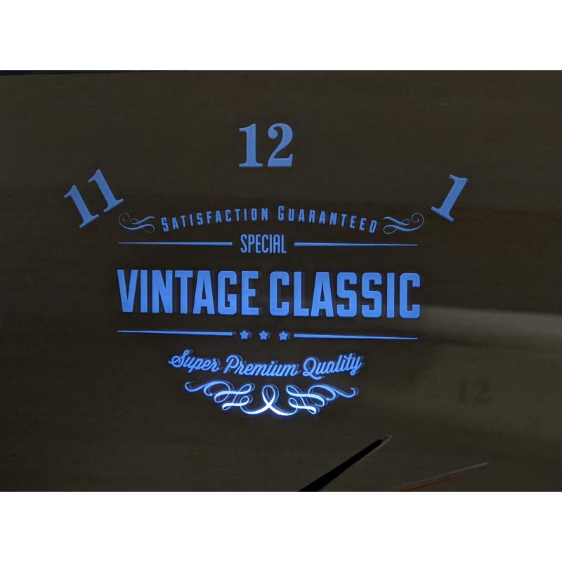 Neon Mirror Clock 10-2020