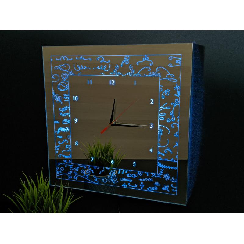 Mirror Clock C1-2020 (Met je eigen logo)
