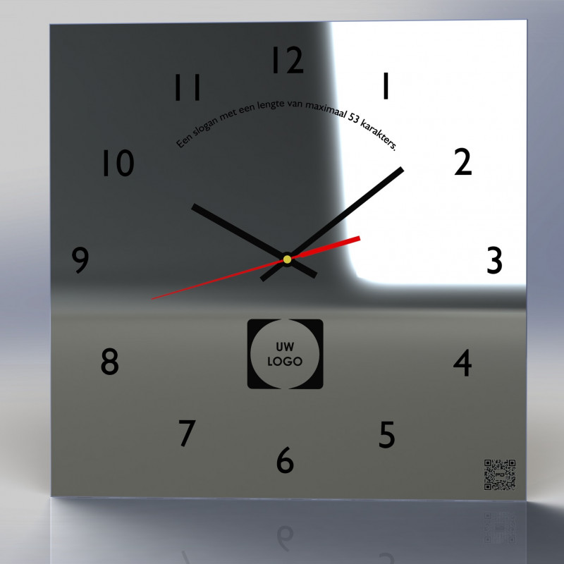 Mirror Clock C2-2020 (With your own logo)