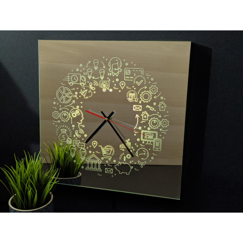 Neon Mirror Clock 11-2020