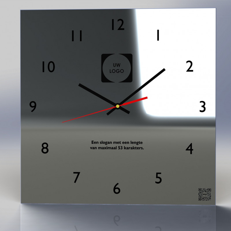 Mirror Clock C4-2020 (With your own logo)