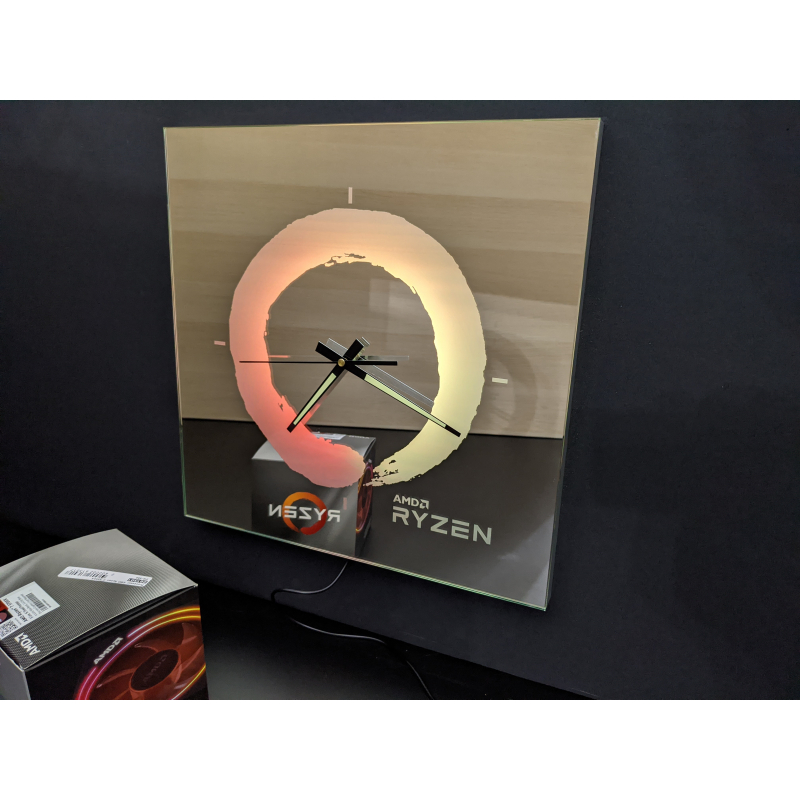 Neon Mirror Clock 4-2020 (AMD Ryzen)