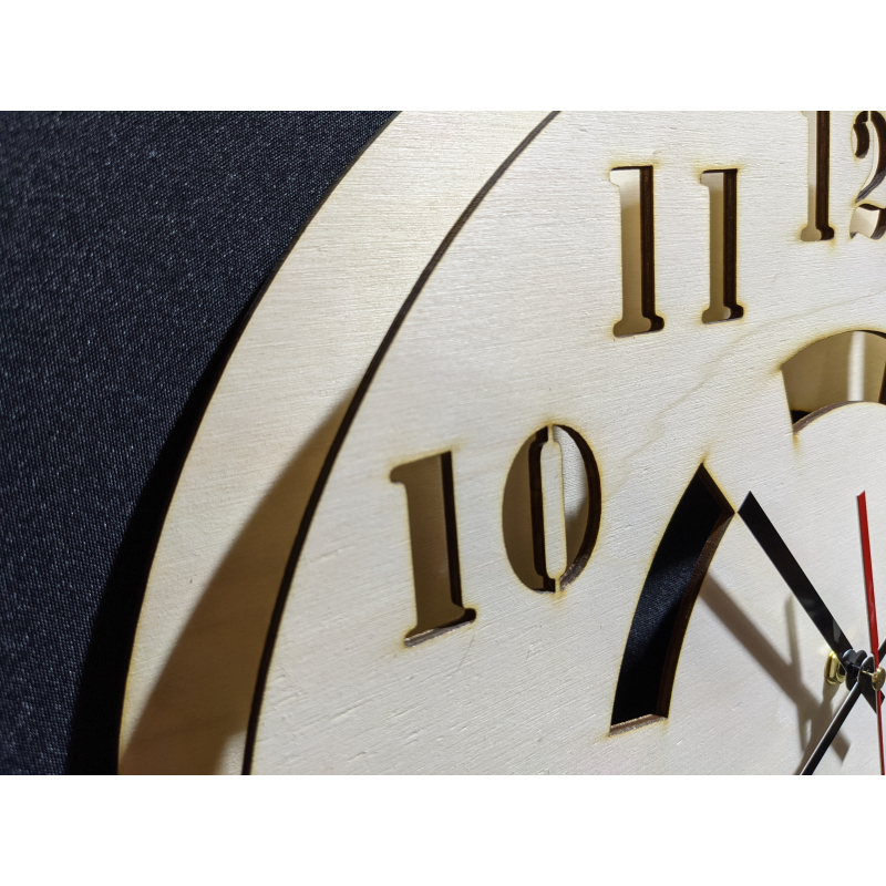 Wood Clock 22-2020 Naturel