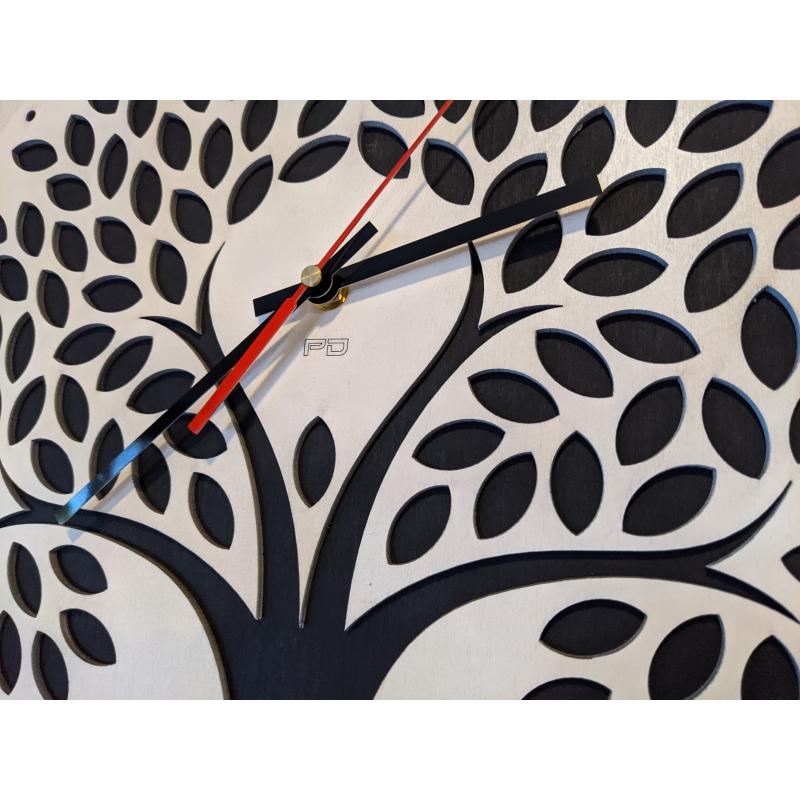 Neon Wood Clock 21-2020 Wit