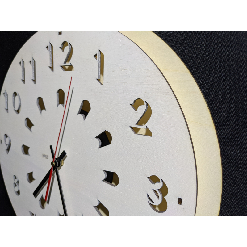 Wood Clock 24-2020 White