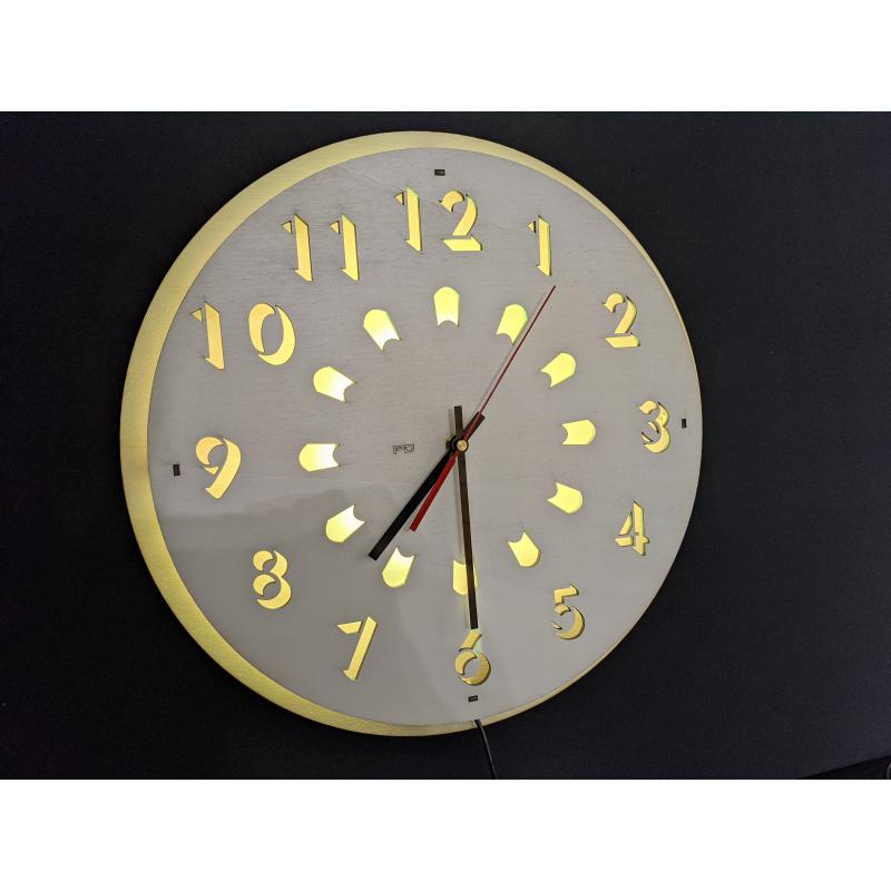 Neon Wood Clock 23-2020 Naturel