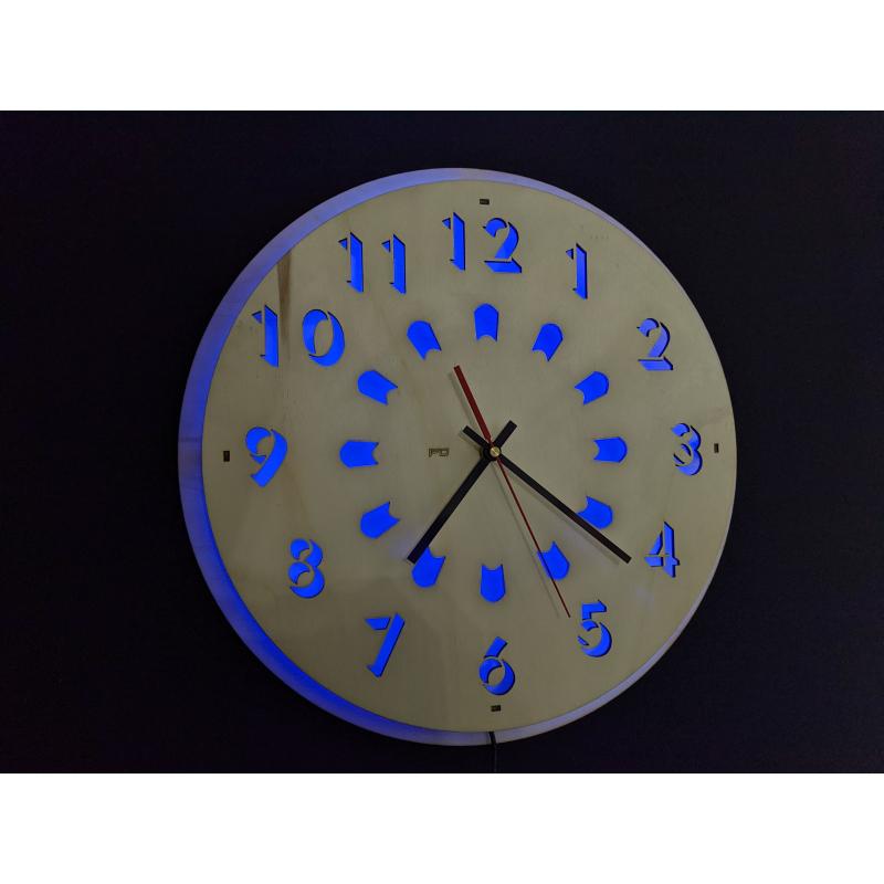 Wood Clock 27-2021 Naturel/Wit