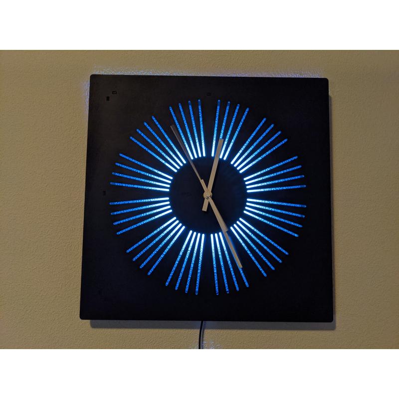 Neon Wood Clock 29-2021