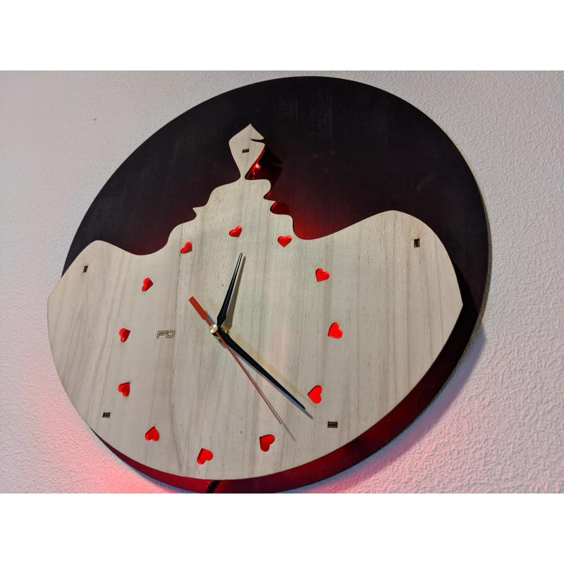 Neon Wood Clock 32-2021