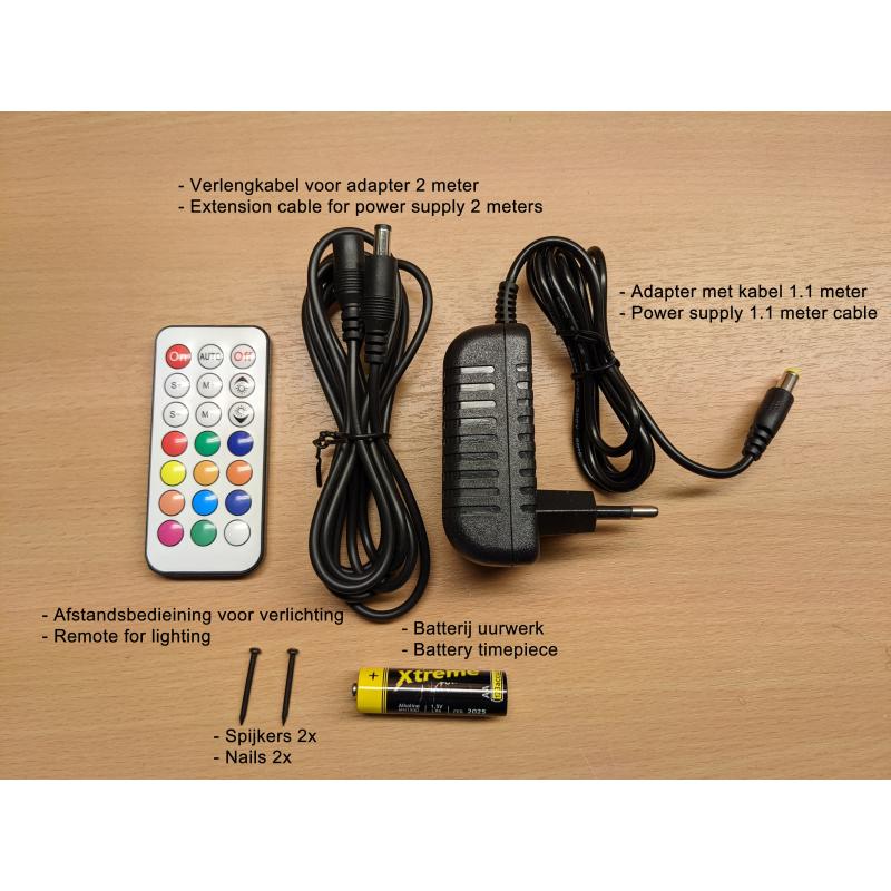 Neon Wood Clock 36-2021