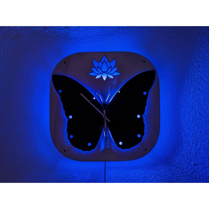 Neon Wood Clock 37-2021
